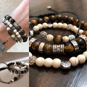 Jewelry - Natural stone Tiger eye beaded bracelets